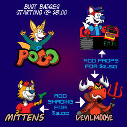 Bust Badge Examples