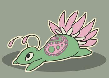 Adopted - No.43 - Lotus-tail paisley critter