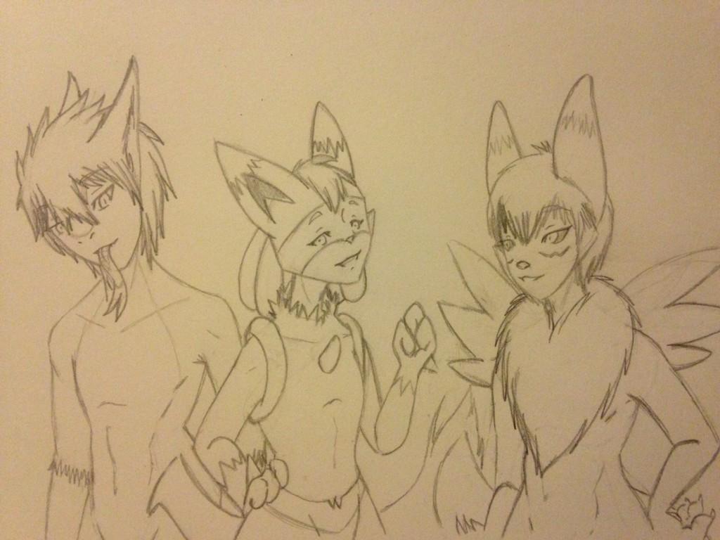 Cute trio