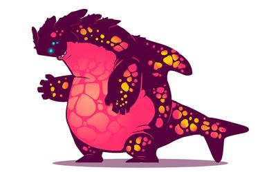 Fat friendly Monster
