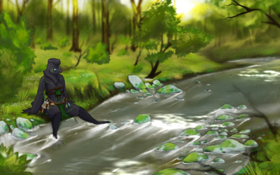 Resting By A Creek