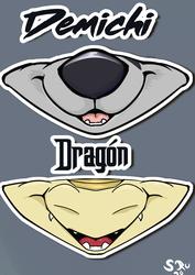 Dragon and Demichi mask