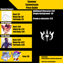 Summer Commission Price Guide