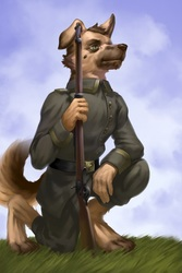 Scenic WW1 German Shepherd [C]