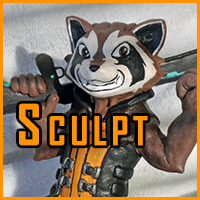 Rocket Raccoon Sculpt