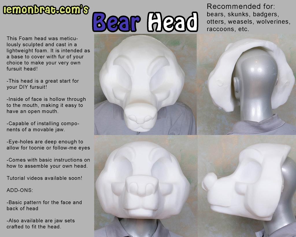 Bear Fursuit Head Base
