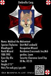 Umbrella Corporation Badge - Mordred the Malcontent (Com.)