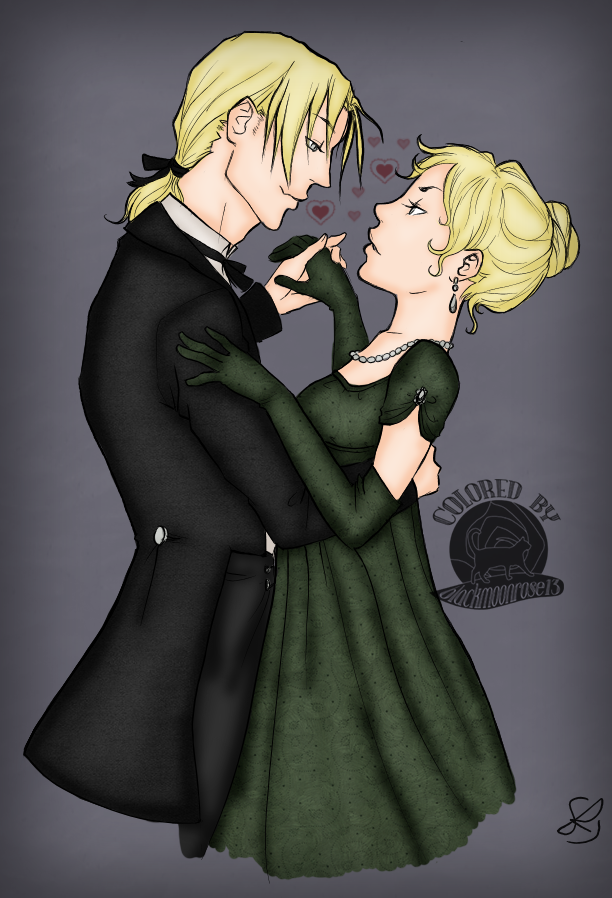 Young Lucius and Narcissa Malfoy