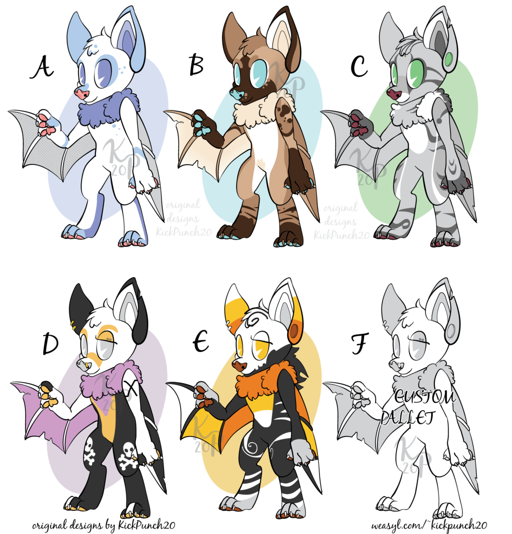 Featured image: Bat Adoptables [5 of 6 available]