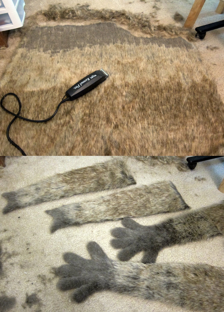 Fursuit Tutorial: Neatening Shaved Fur