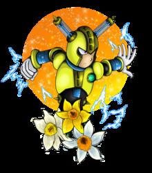 Fuseman with daffodils