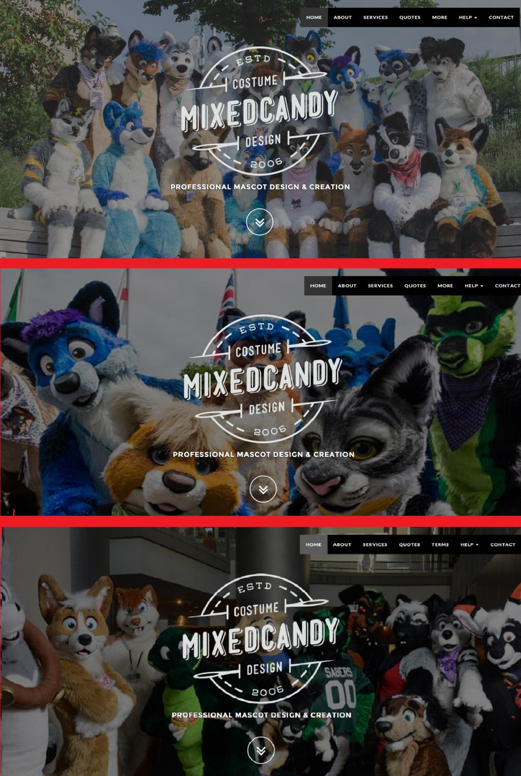 Mixedcandy Website - Dynamic Background