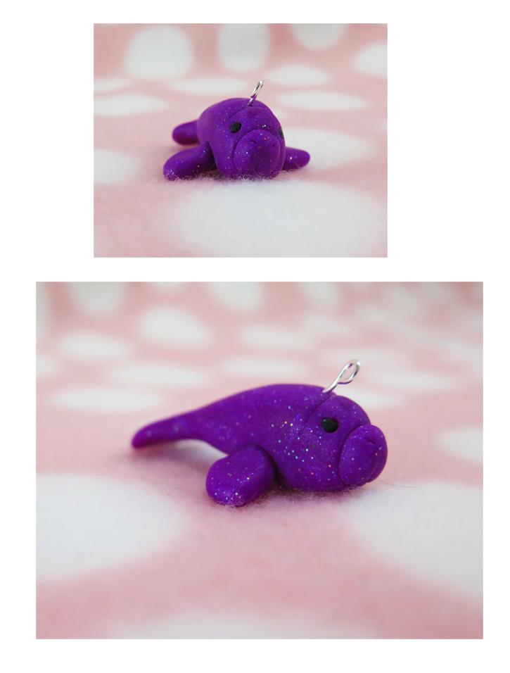 glittery purple sea cow