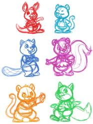 More Shirt Tales sketches!
