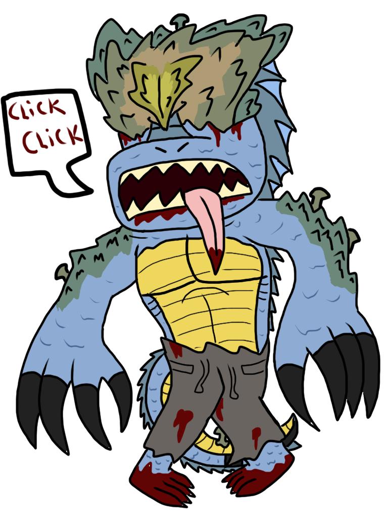 Lizard Face more like FUNGUS FACE