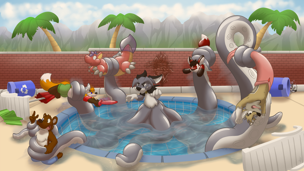 Pool Side Mayhem