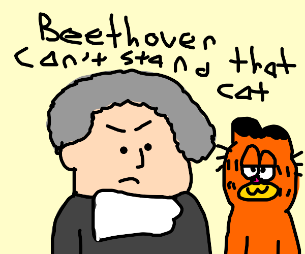 Beethoven doesn't like Garfield