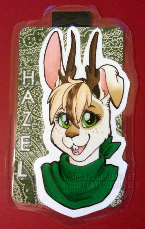 Hazel Badge Commission