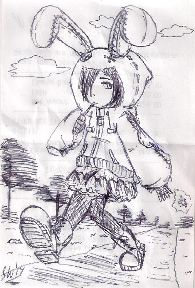 receipt sketch: that bunny jacket
