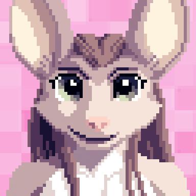 Celine Pixel Portrait (topless) by VinVulpis