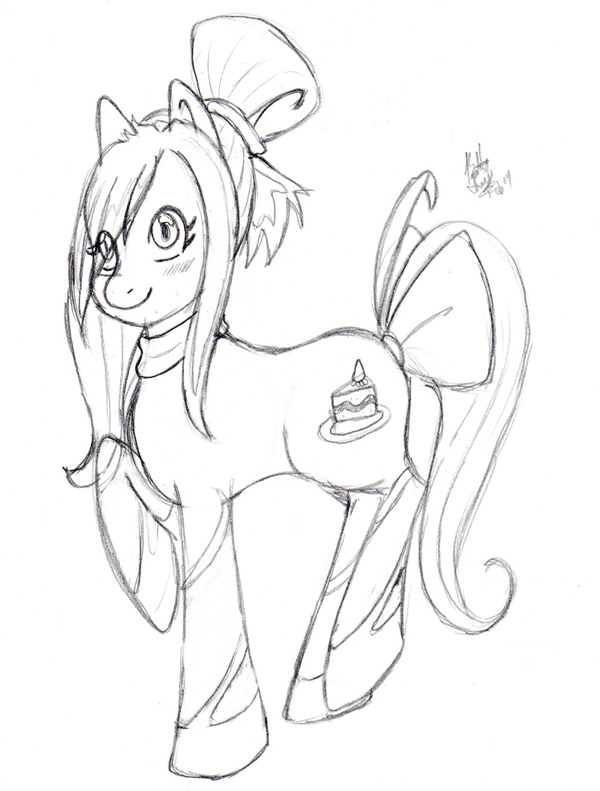 Most recent image: New Pony OC wut! [Sketch]