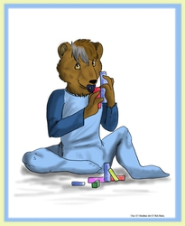 Lil bear and building blocks