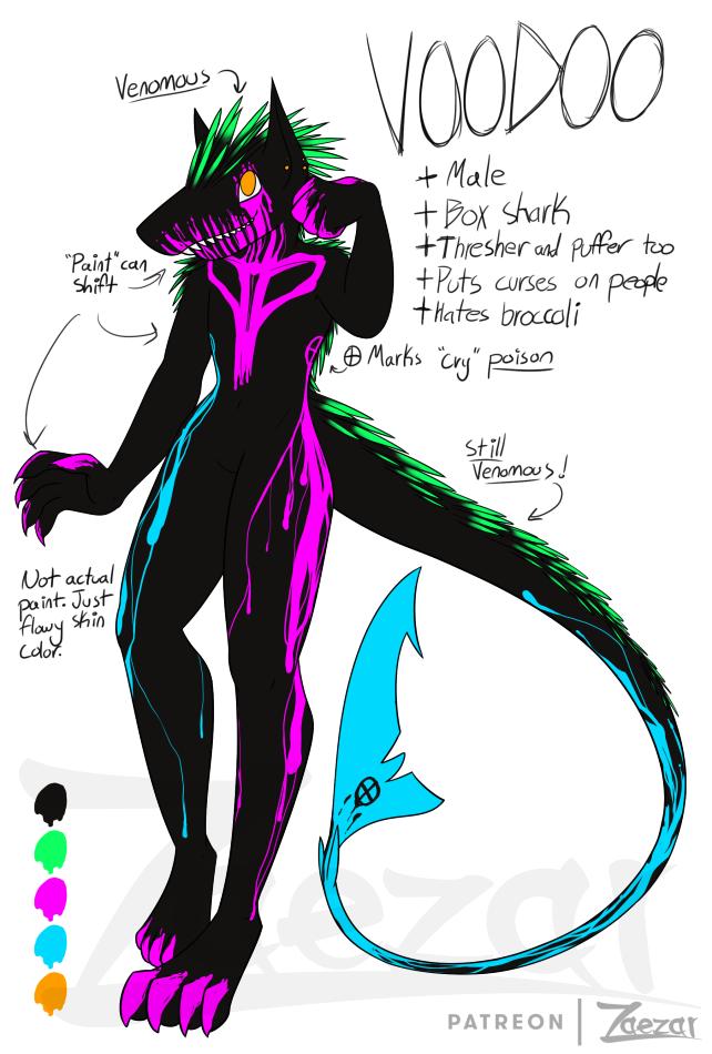 Box Shark Adoptable: Voodoo