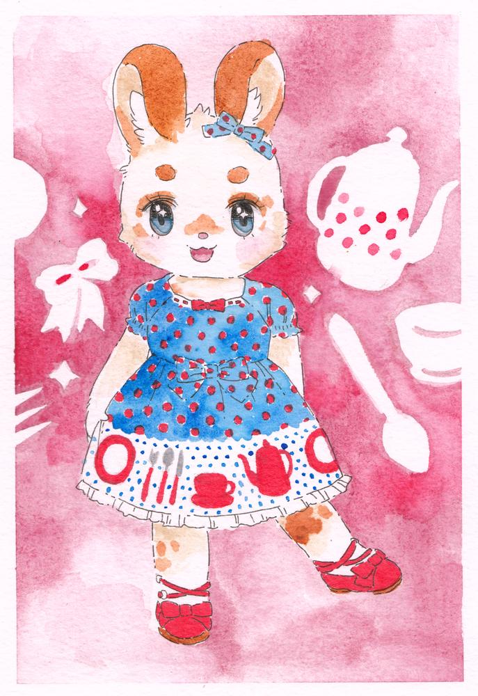 little bunny ready for a tea party ♡