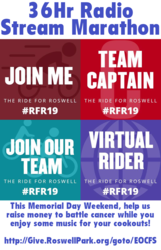 Ride for Roswell 36Hr Charity Stream