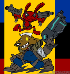 Sam and Max as Deadpool and Cable