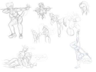 Lucia Workout Sketchdump