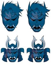 [CM] Hannya and Samurai Icon Set