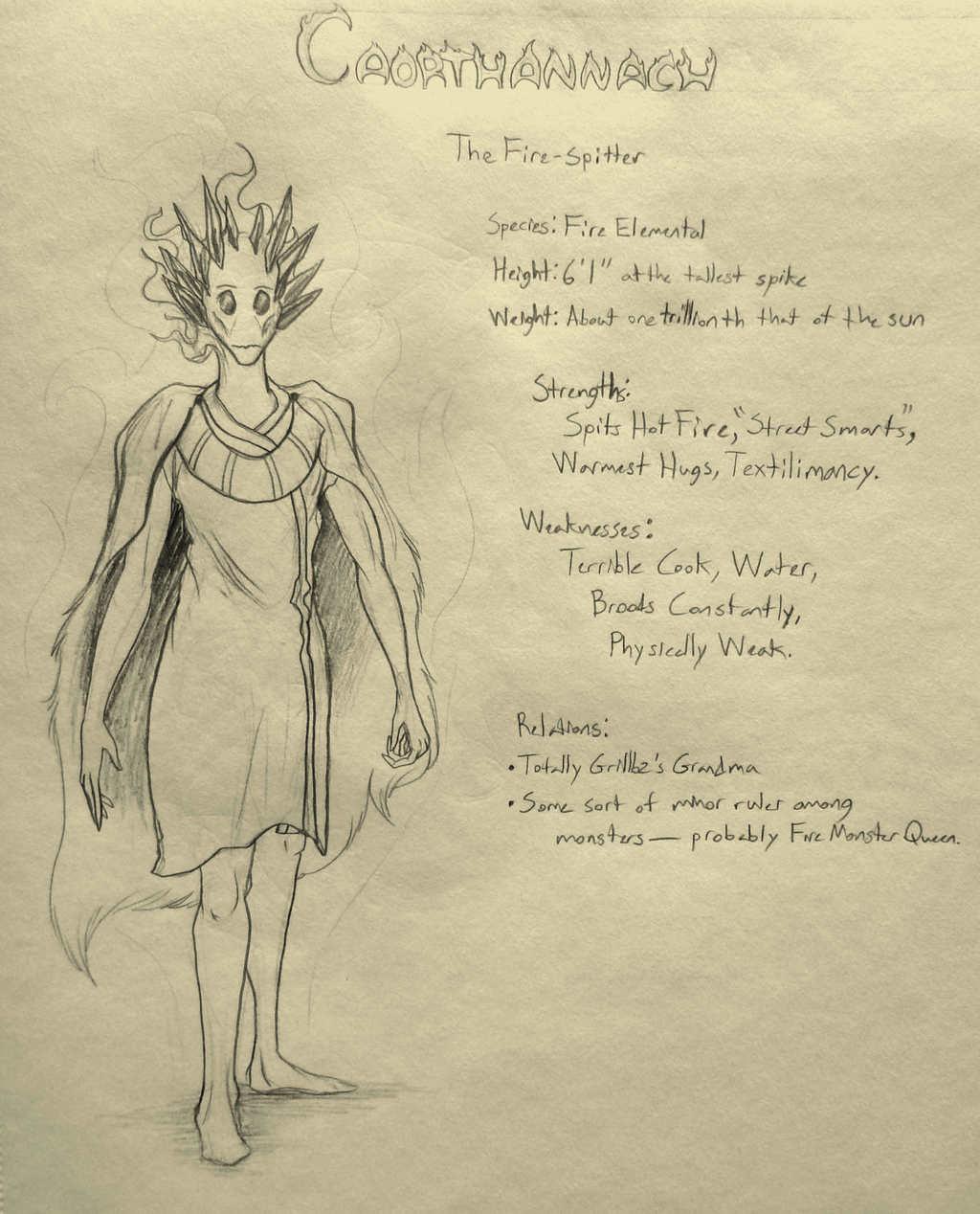 CAORTHANNACH Character Sheet