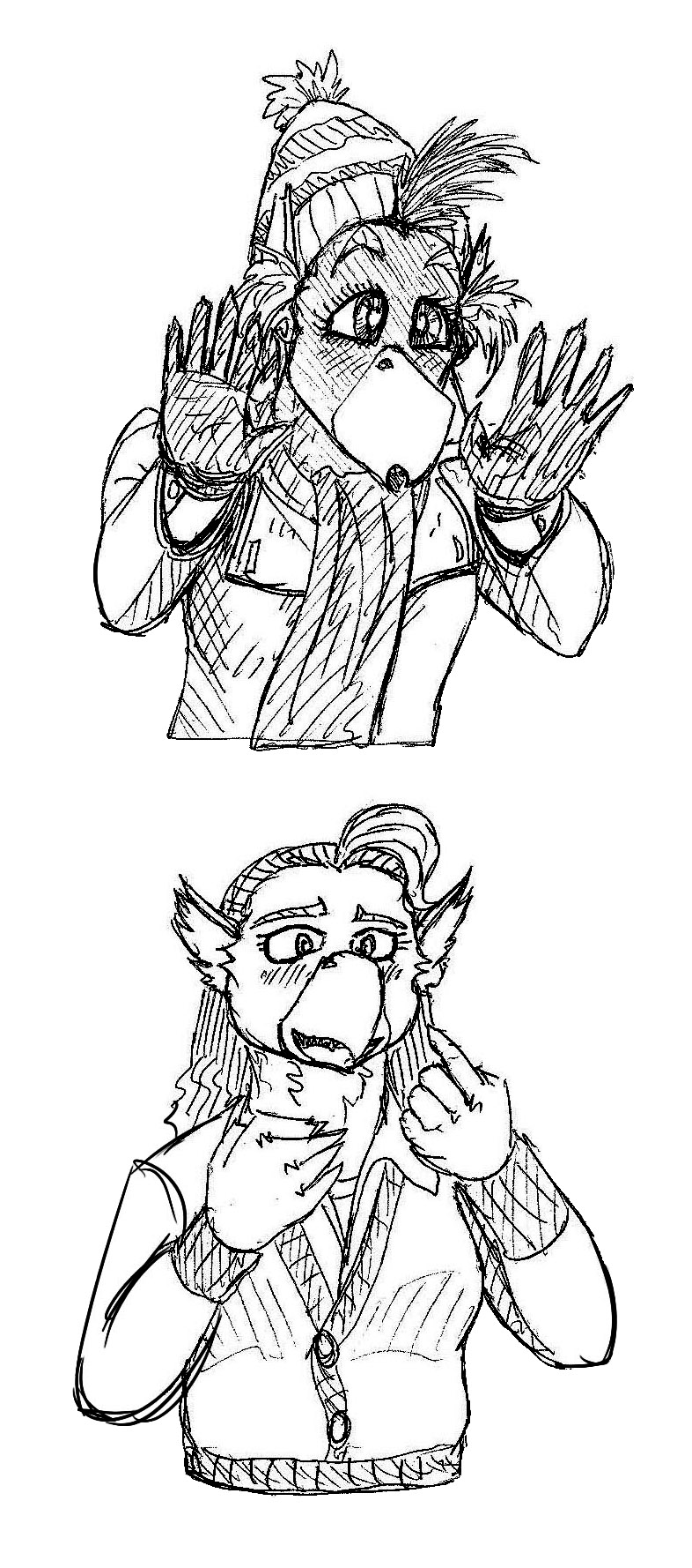 Reaction Sketches 5 - Rhys and Cass