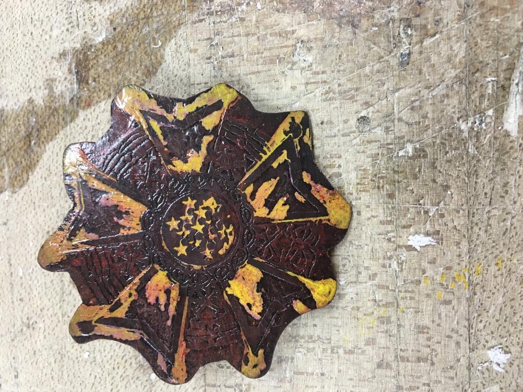 Weird Etched Star Pin