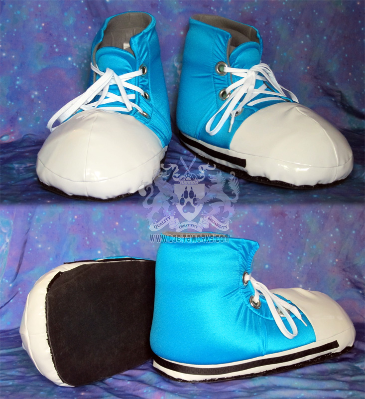 Blue Fursuit Sneakers