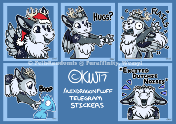 AlexDragonFluff Telegram Stickers