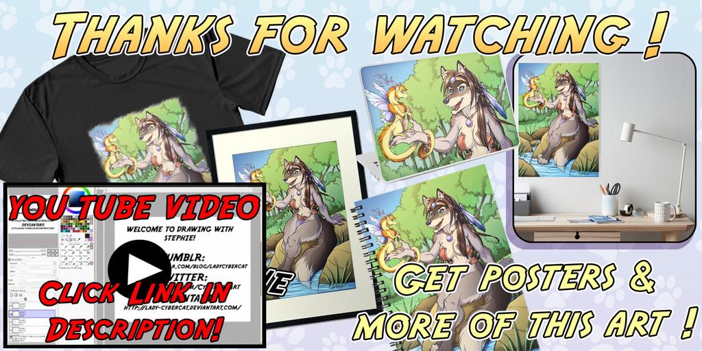 Furry Art Speedpaint Video Wolf Lake