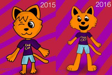 Remake Comparasion: Cool Cat FanArt