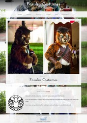Faruku Costumes - Web Design