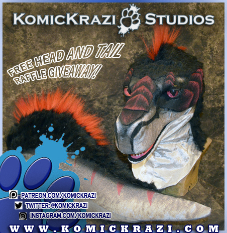 Komickrazi Fursuit Head and Tail Giveaway contest!