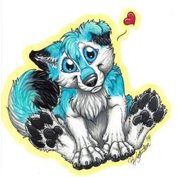 YCH fluffy puppy