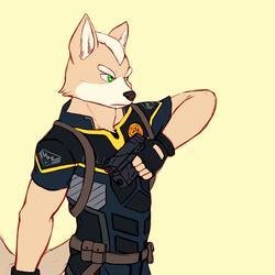 Fox McCloud in Police Uniform