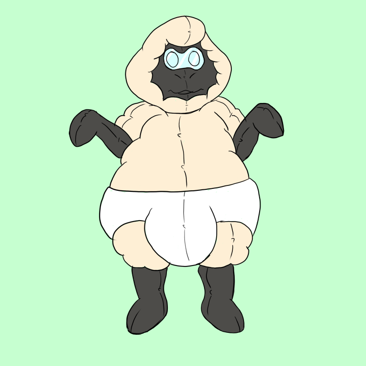 Rubber Sheep Suit