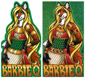 Glitter Badge - Barbie Q