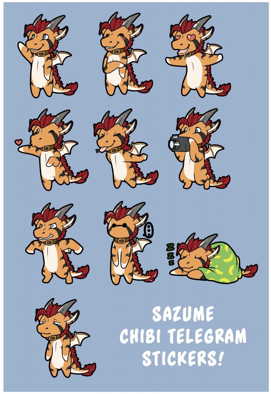 [COM] Sazume Telegram Stickers!
