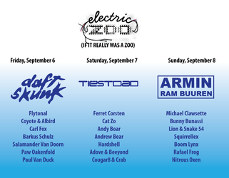 Electric Zoo (If It Really Was A Zoo)