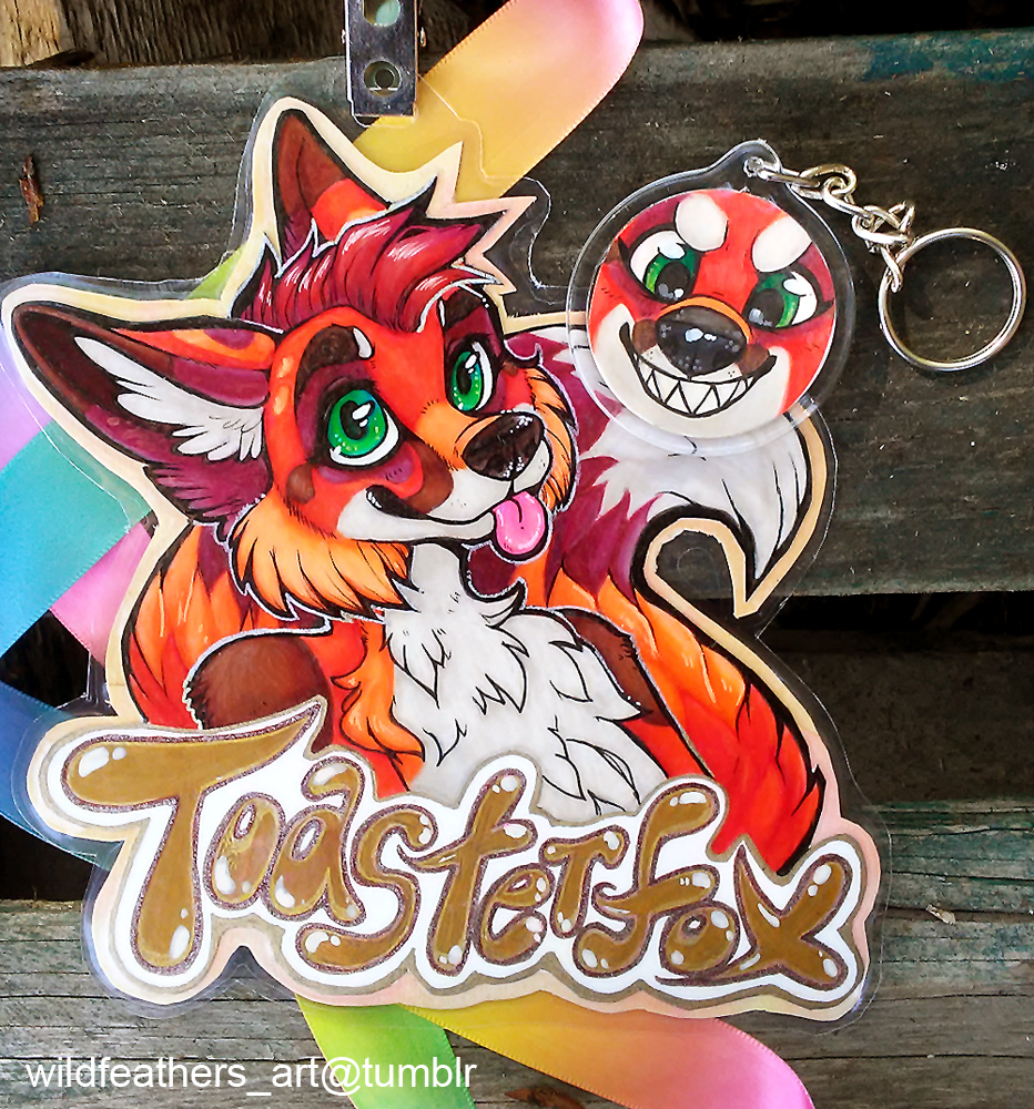 Most recent image: Toaster Fox Badge and Keychain