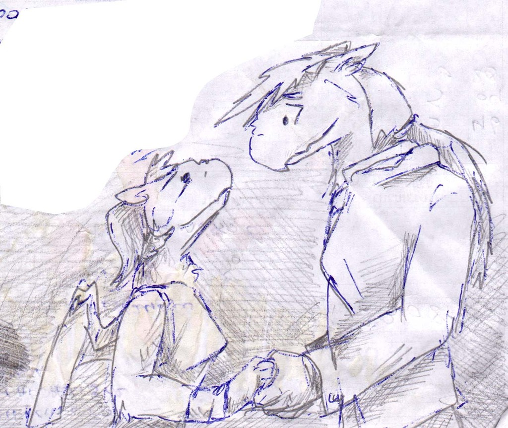 Most recent image: Ace and Mary married sketch