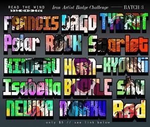 Summer Iron Artist Badges -- BATCH 3